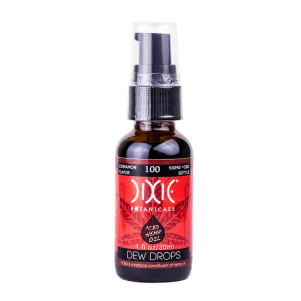 Dixie Botanicals Dew Drops 100mg Cinnamon Front