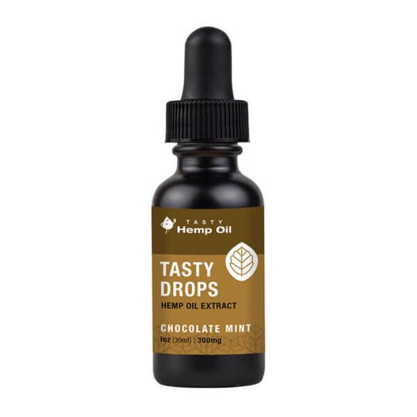 Tasty Hemp Oil Tasty Drops Hemp Oil Extract 1ozl Chocolate Mint