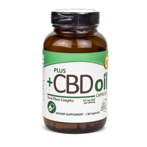 Plus CBD Oil 10mg Capsules 60 Pack