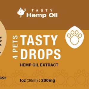 Tasty Drops 4 Pets Hemp Oil Extract 30ml Label