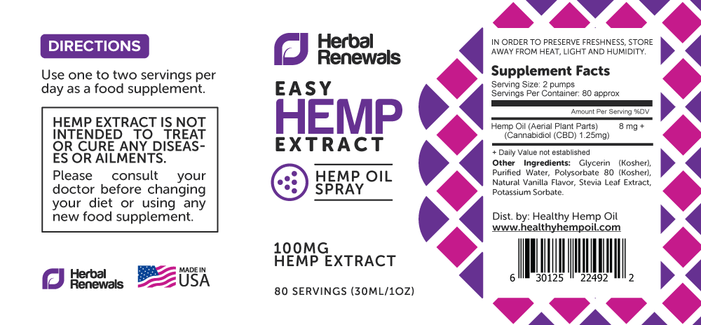 Label—Herbal-Renewals—Hemp-Extract—EASY—PURPLE—Spray—1oz