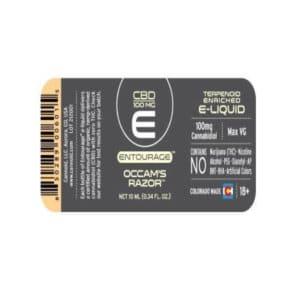 Entourage Occam's Razor E-Liquid 100mg CBD Back