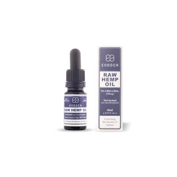 Endoca Soothing Hemp Oil Drops 300mg CBD + CBDa