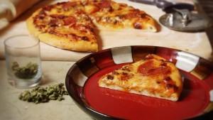 Cannabis Edibles - marijuana pizza