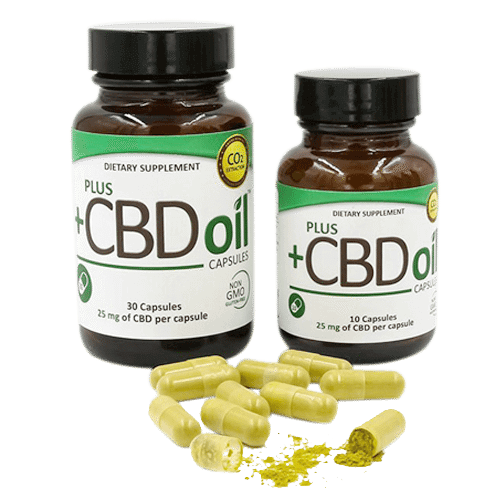 Plus CBD Oil Cannabidiol Supplement Capsules