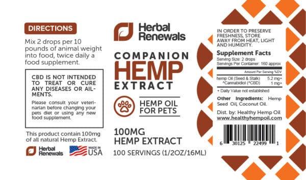 Herbal Renewals – Hemp Extract – INSTANT