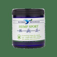 Bluebird Botanicals Hemp Sport CBD Skin Cream 4oz Front