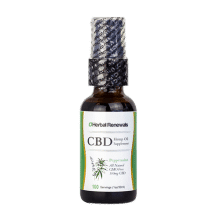 Herbal Renewals CBD Oil Spray 1oz front