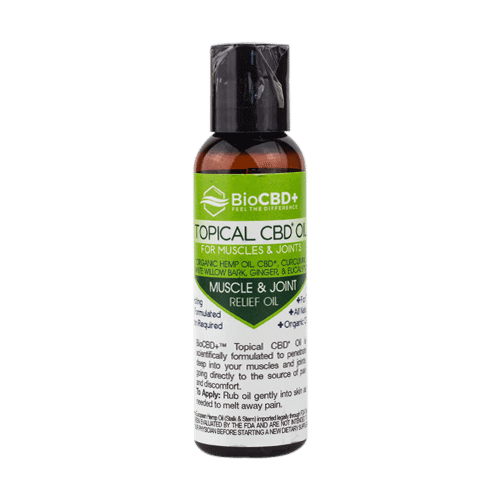BioCBD+ Topical CBD Oil for Muscles & Joints 2oz