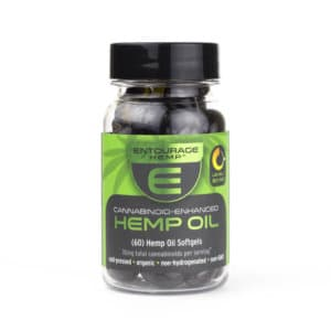 Entourage Cannabinoid Enhanced Hemp Oil Softgels 60 Pack