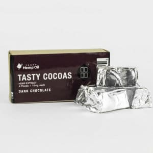 Tasty Hemp Oil Tasty Cocoas CBD Chocolate 4 Pack Dark Chocolate