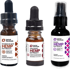 Herbal Renewals 3 Bottles of CBD Oil
