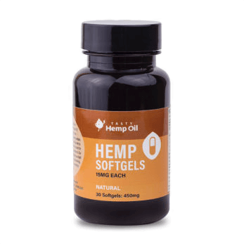 Tasty Hemp Oil Hemp Softgels 15mg CBD 30 Pack