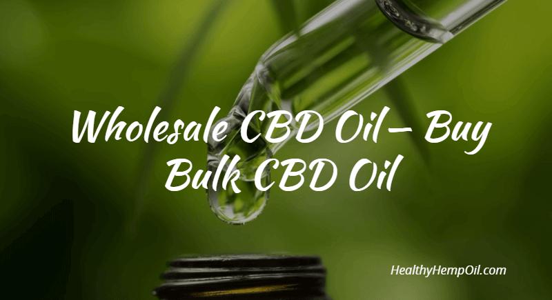 wholesale cbd oil