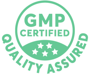 GMP certified quality assured badge
