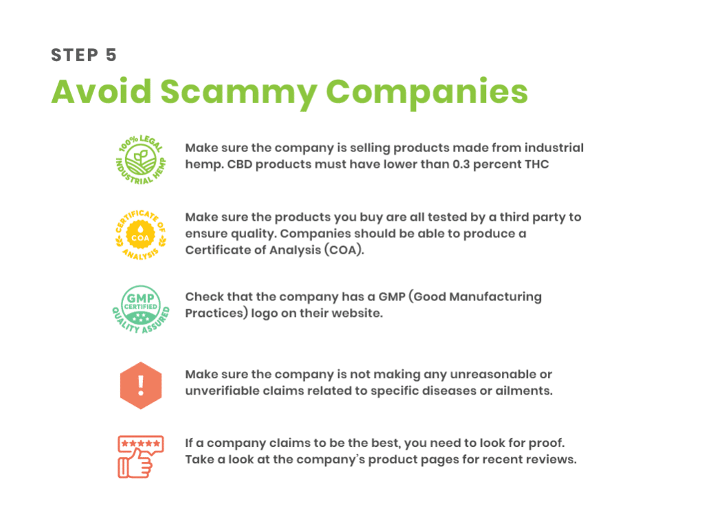 step 5 - avoid scammy companies