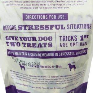 Therabis CBD Treats - Calm and Quiet - Medium Dogs_back