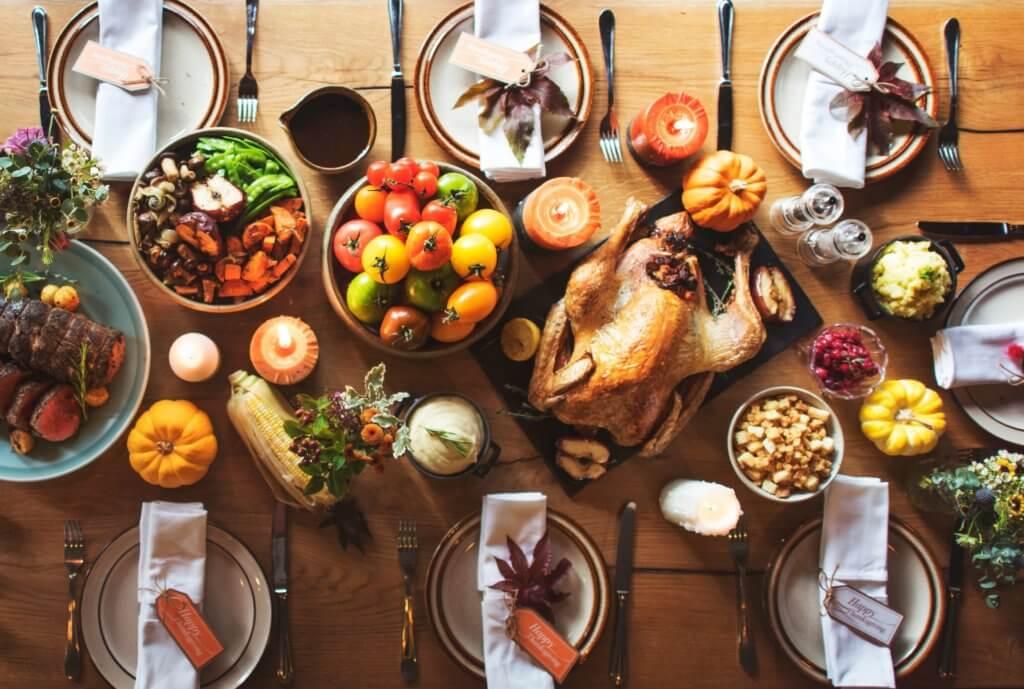 Thanksgiving table food CBD holiday recipes